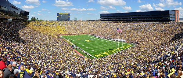 The number of people in the U.S. dead from COVID-19 could fill Michigan Stadium