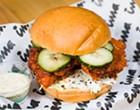 Ima's spicy karaage fried chicken sandwich is hot stuff