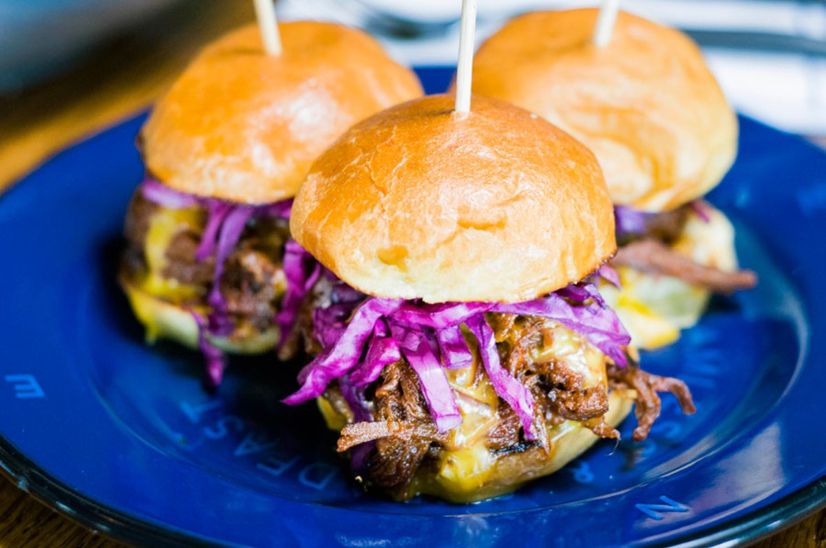 Brisket sliders.