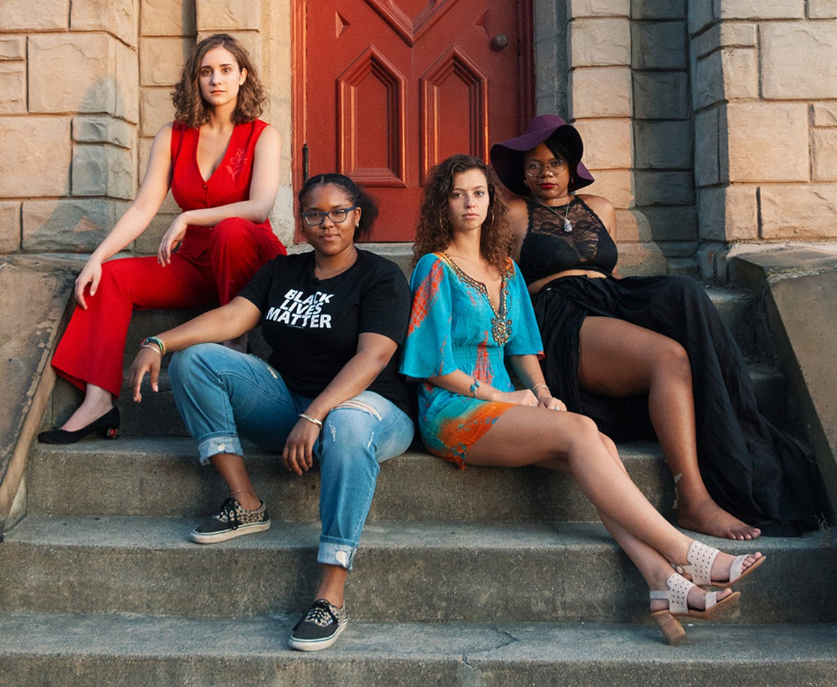 From left to right: Mackenzie Grosse, Amber Price, Kristina Camaj, and Maria Simpkins.