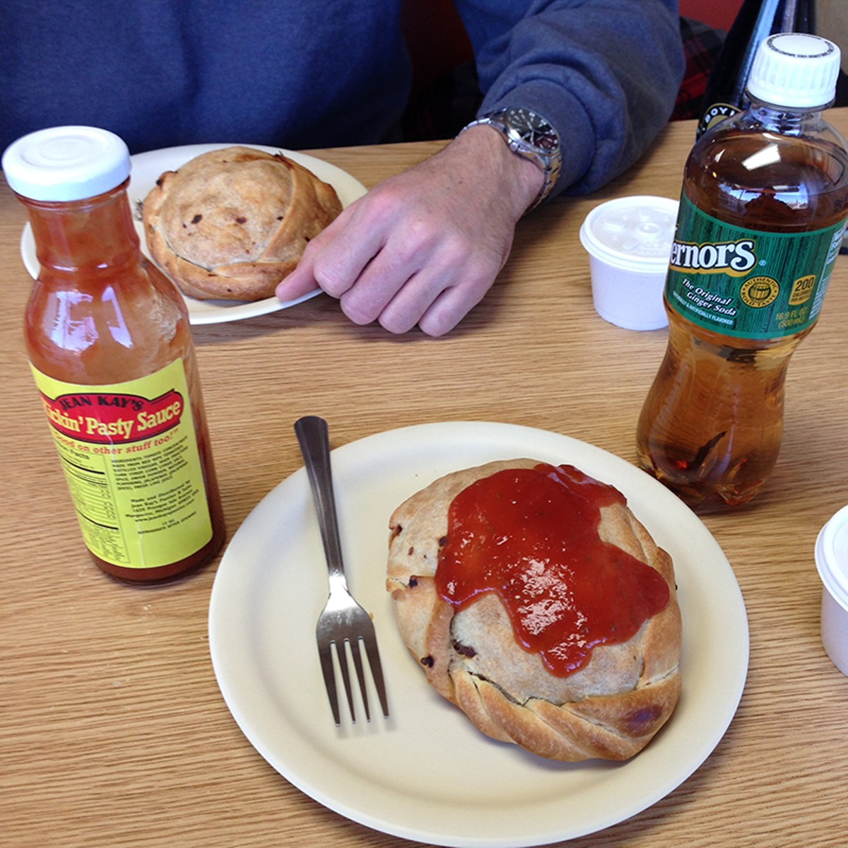 In the U.P., you have to choose between ketchup or gravy For your pasty.