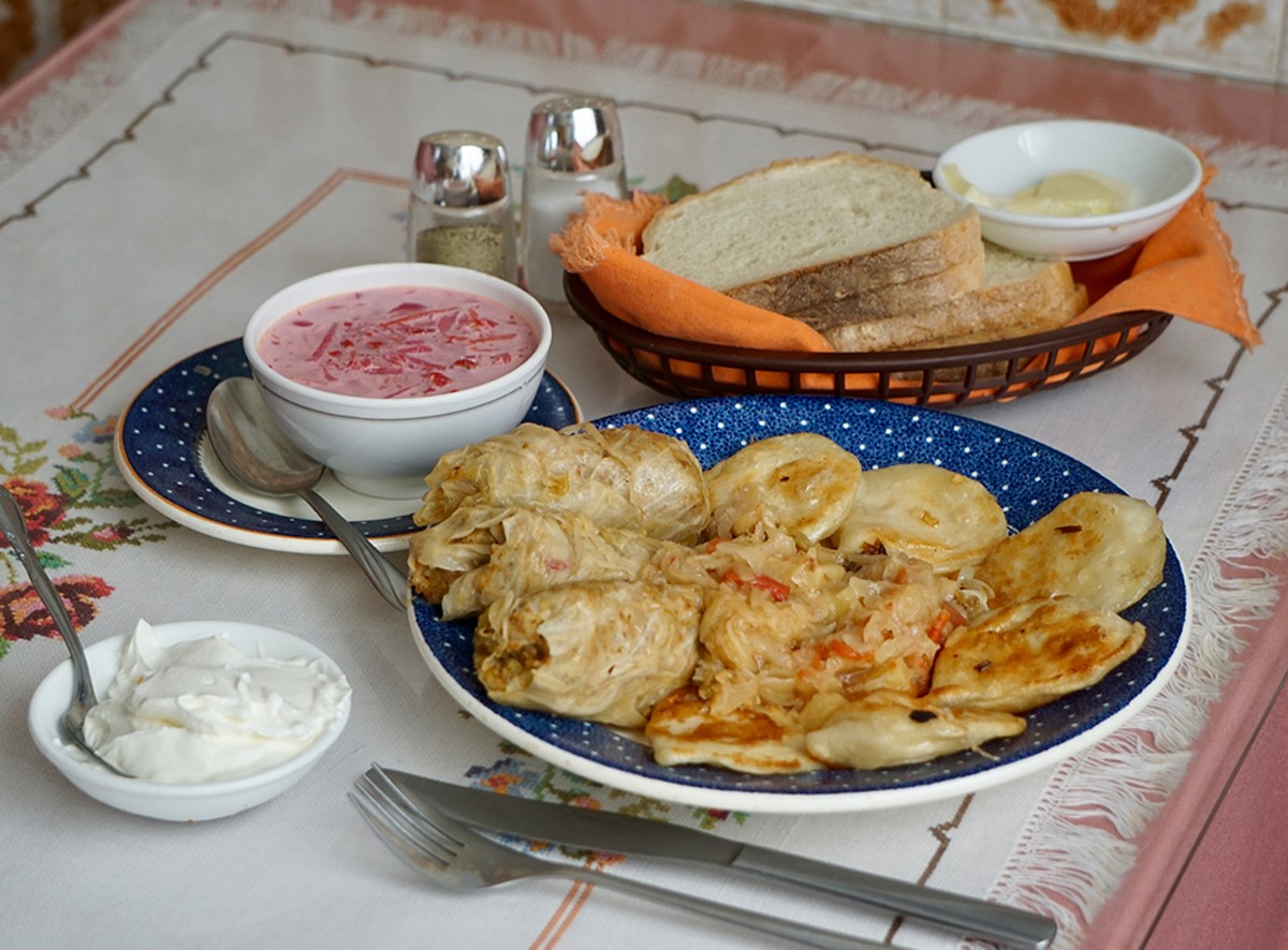 DIshes from Windsor's aptly named Ukrainian Restaurant.