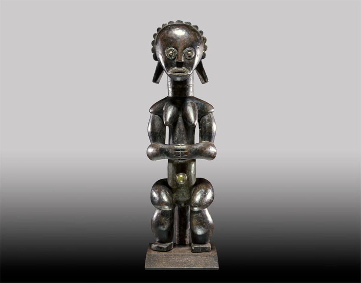 Fang peoples, Gabon, Ngumba Figure, no date, wood, 21 inches.