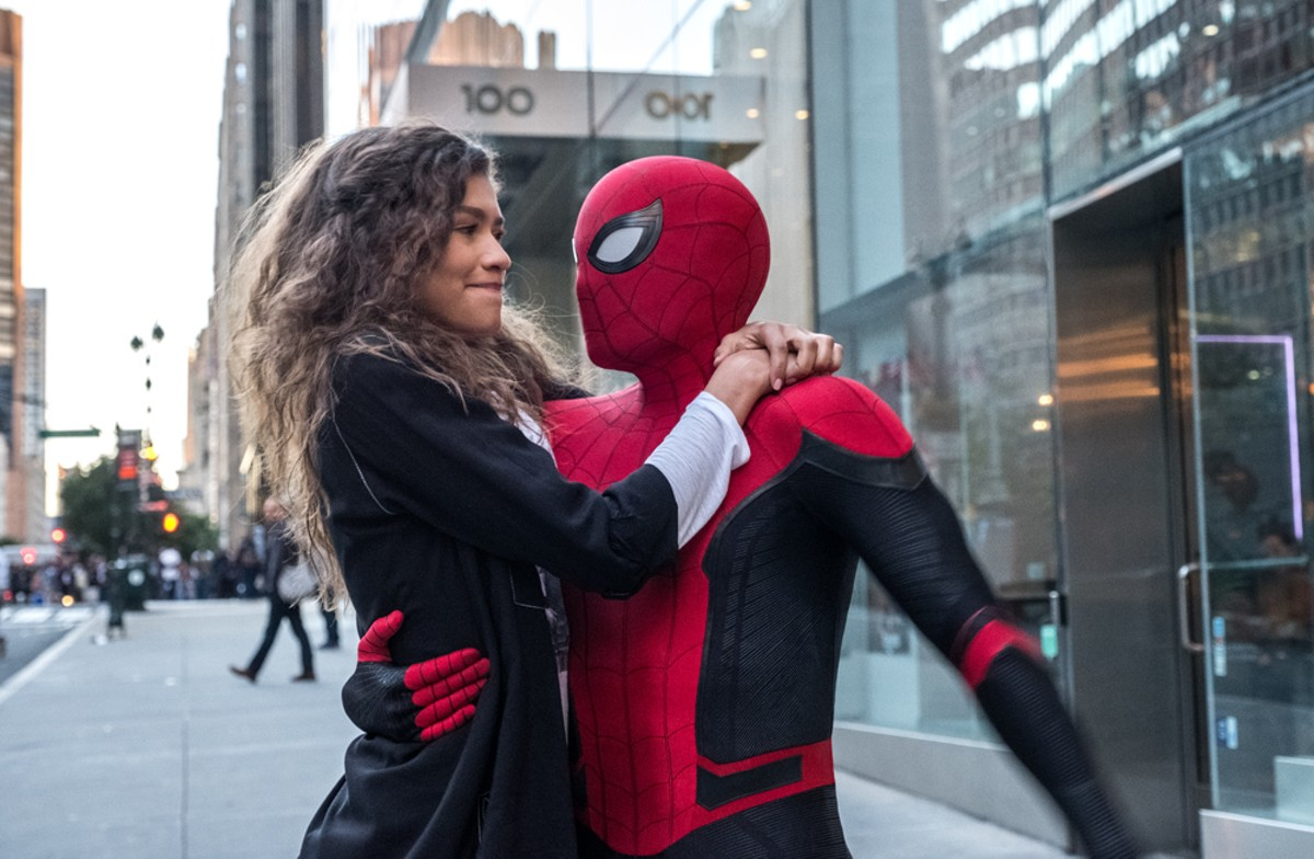 Michelle (Zendaya) and Spider-Man (Tom Holland) in Spider-Man: Far From Home.