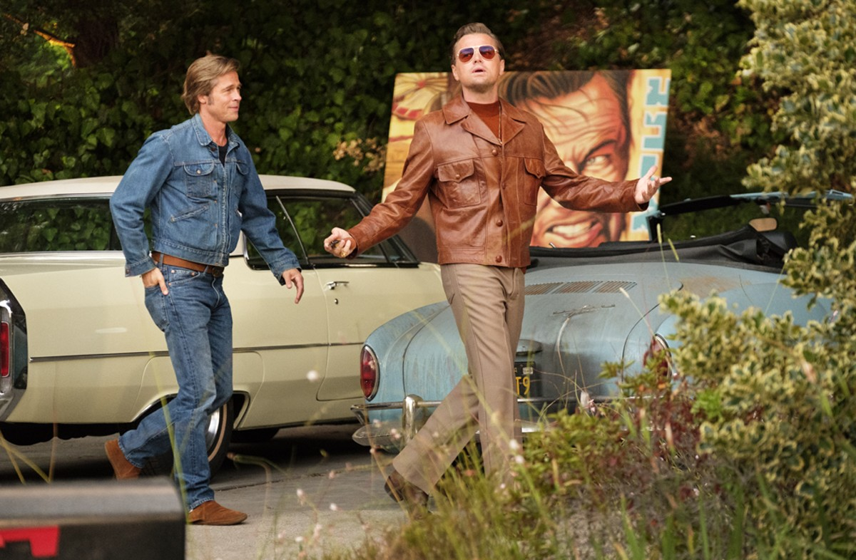 Brad Pitt and Leonardo DiCaprio in Once Upon a Time... in Hollywood.