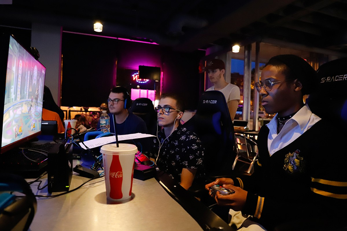 Gamers face off at Royal Oak's new LFG video game lounge.