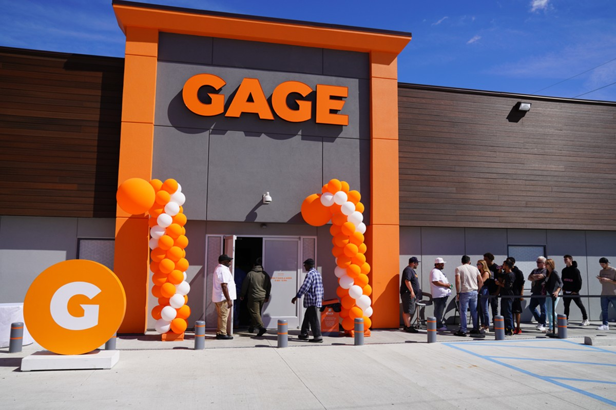 A line formed when Gage Cannabis Co. opened its doors to the public in Ferndale in September. Even though Michigan voters legalized recreational adult-use marijuana in 2018, it could be some time until sales are allowed.