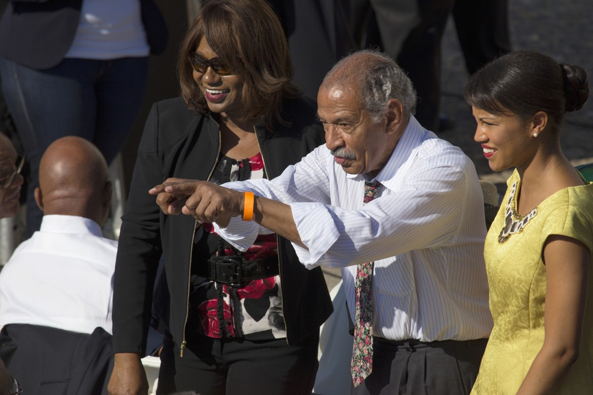 "Michigan Congressman John Conyers at the 50th anniversary of the march on Washington and Martin Luther King's ""I Have a Dream"" speech, Aug. 24, 2013."