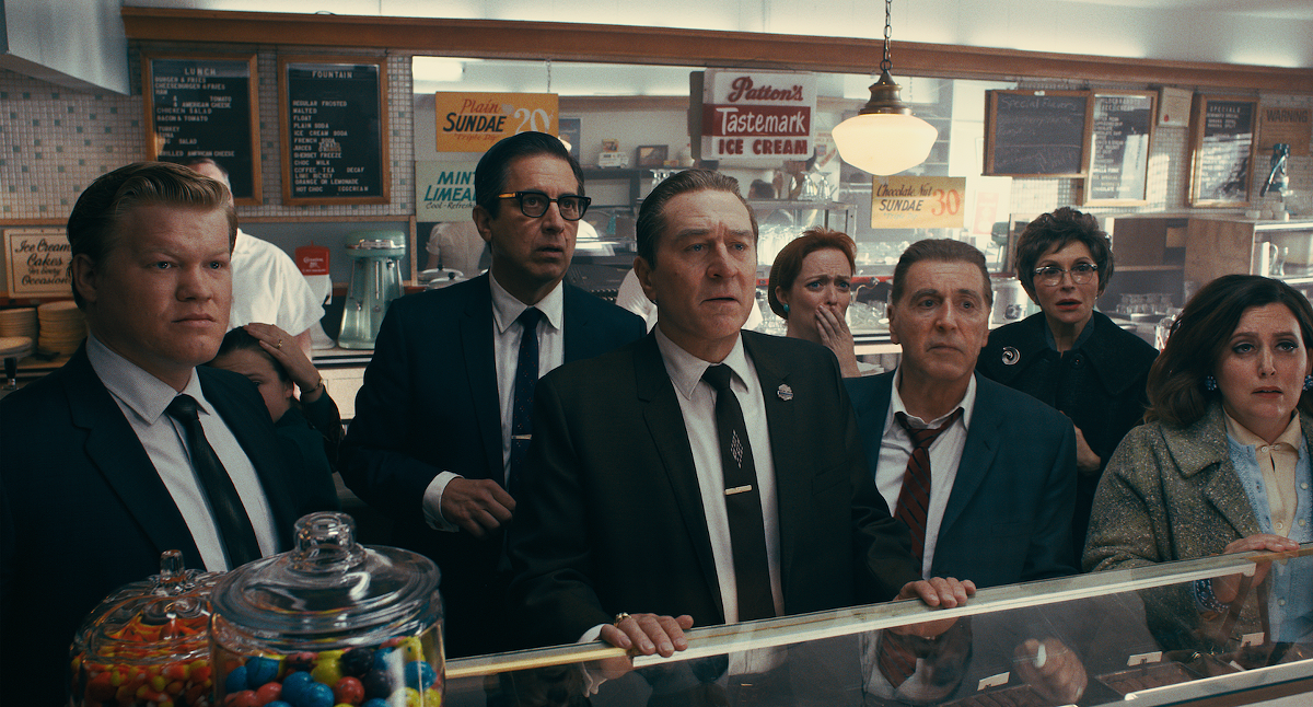 Jesse Plemons, Ray Romano, Robert De Niro, and Al Pacino star in Martin Scorsese's The Irishman.