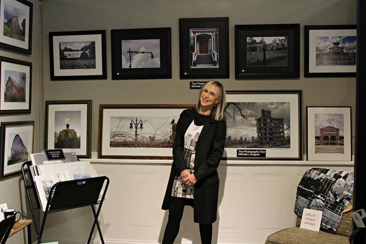 Michele Lundgren in her Rust Belt Market shop in Ferndale.