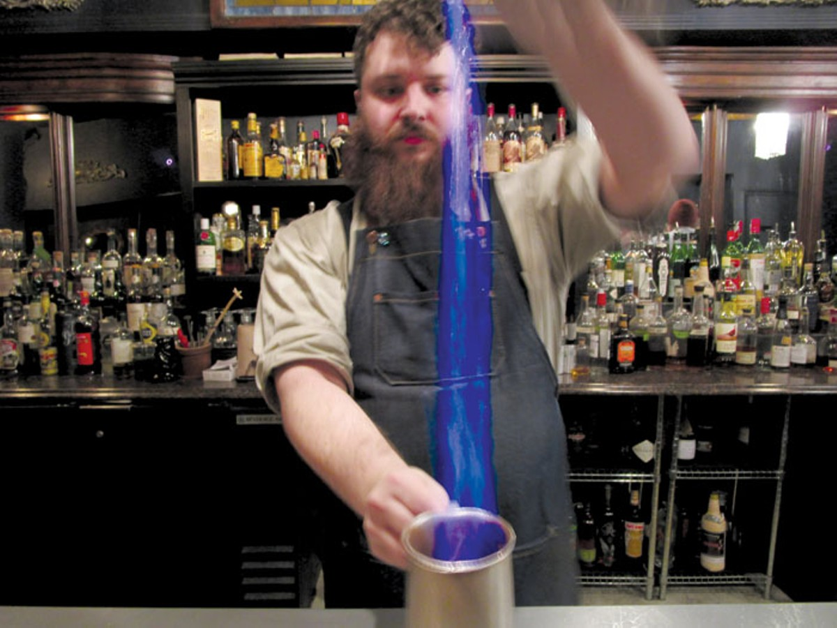 Bartender Chas Williams at the Oakland.