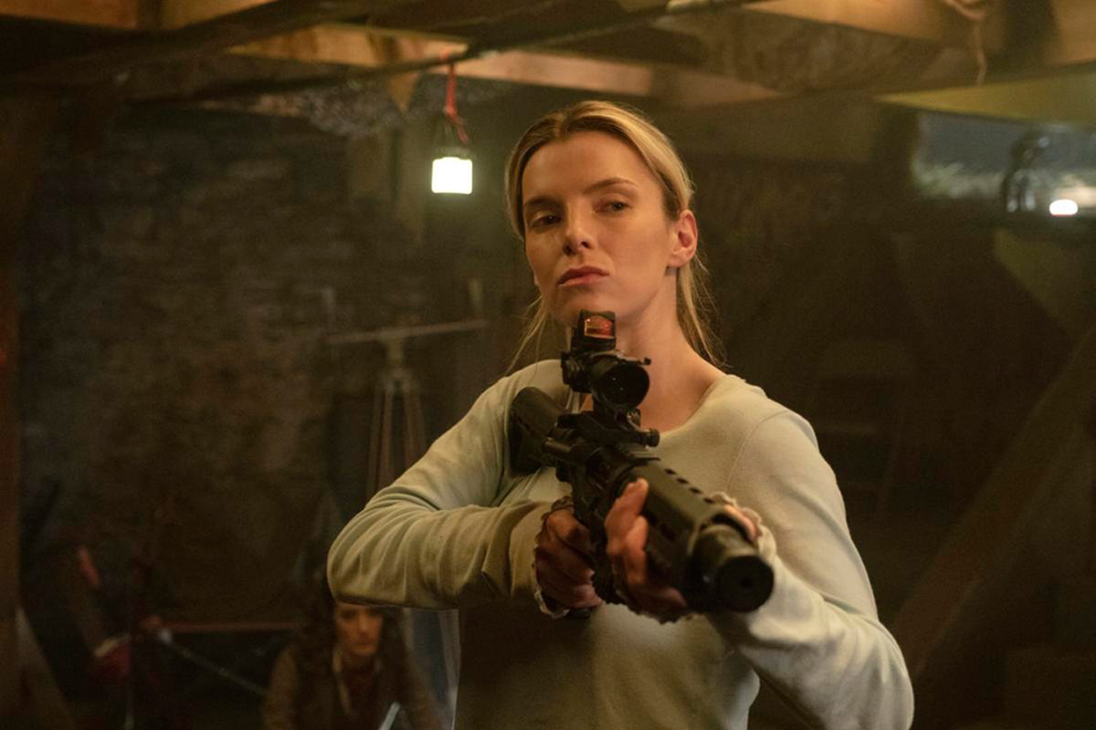 The hunters become the hunted: Betty Gilpin as Crystal in The Hunt.