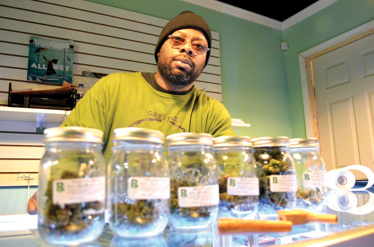 Reginald Venoy at his westside dispensary, Family Trees