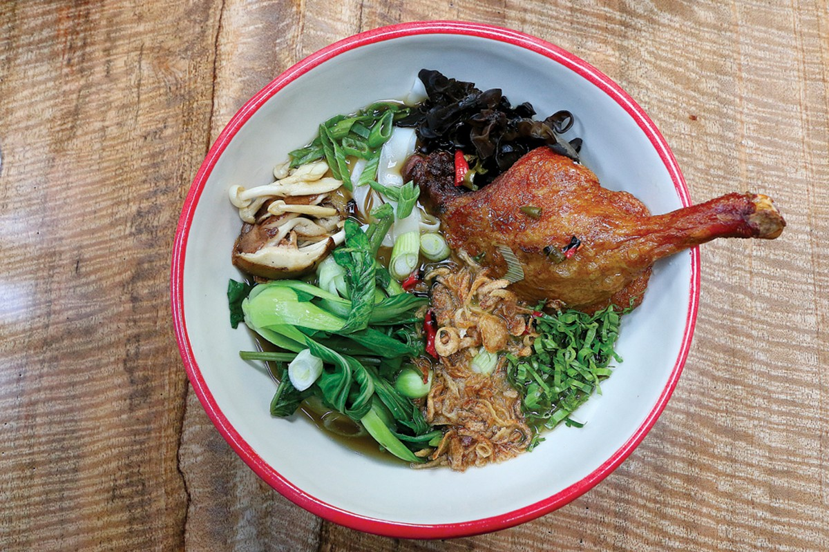 Chinese duck noodles