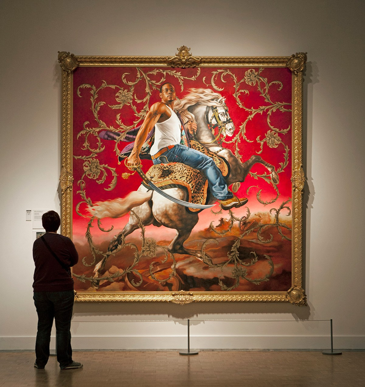 "Kehinde Wiley's ""Officer of the Hussars."""