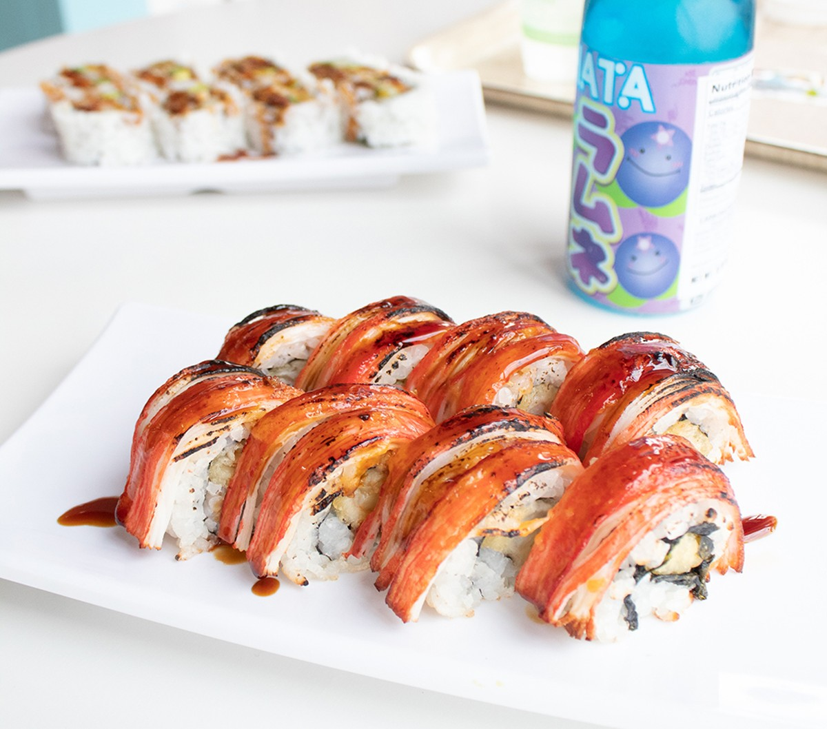 """The Goblin's """"Firecracker"""" roll has an everything-but-the-kitchen-sink vibe."""