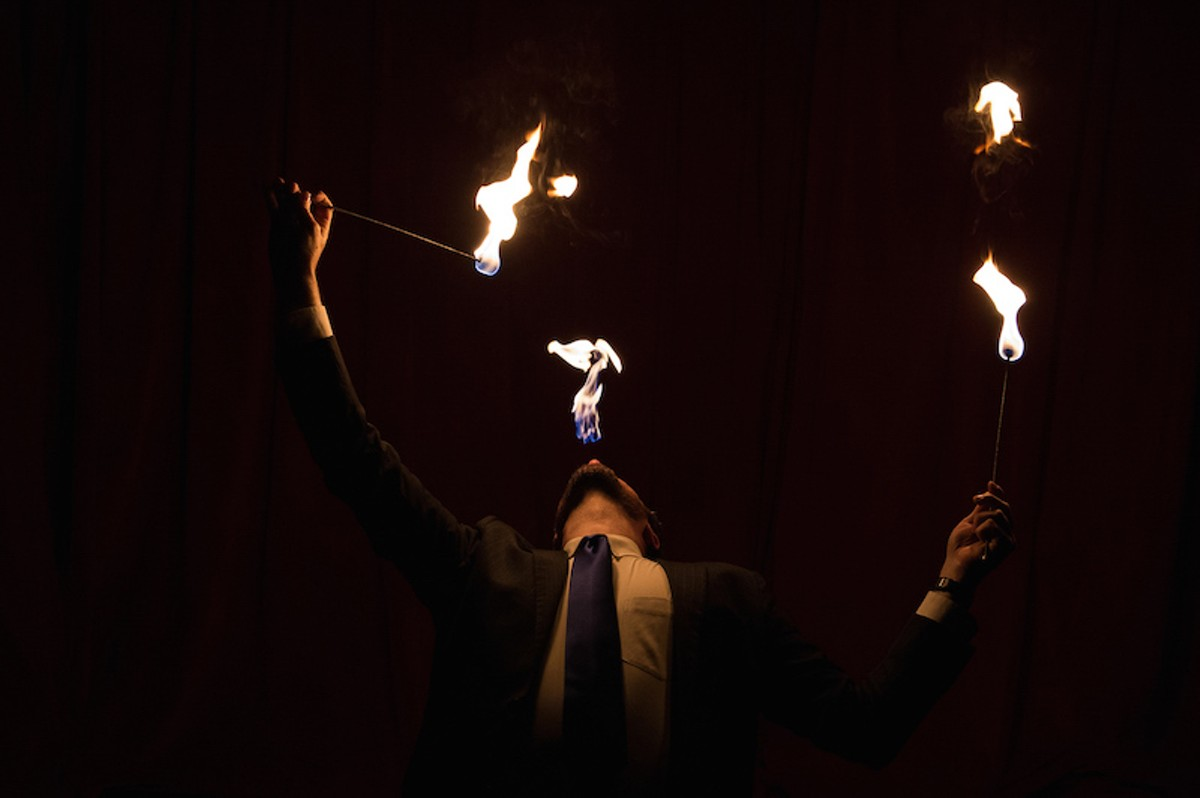 Fire eating is just ONE of the amazing acts you'll learn about.