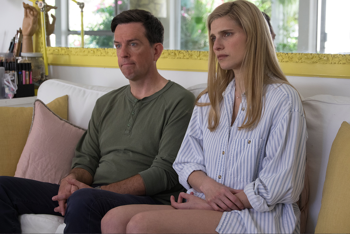 Ed Helms and Lake Bell in I Do … Until I Don't.