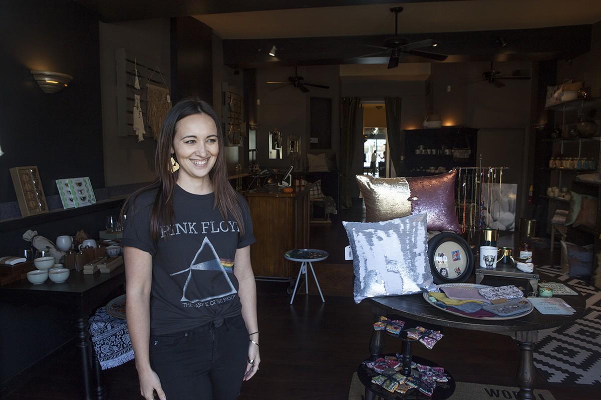 Tanda Kasprzycki inside her Ferndale boutique.