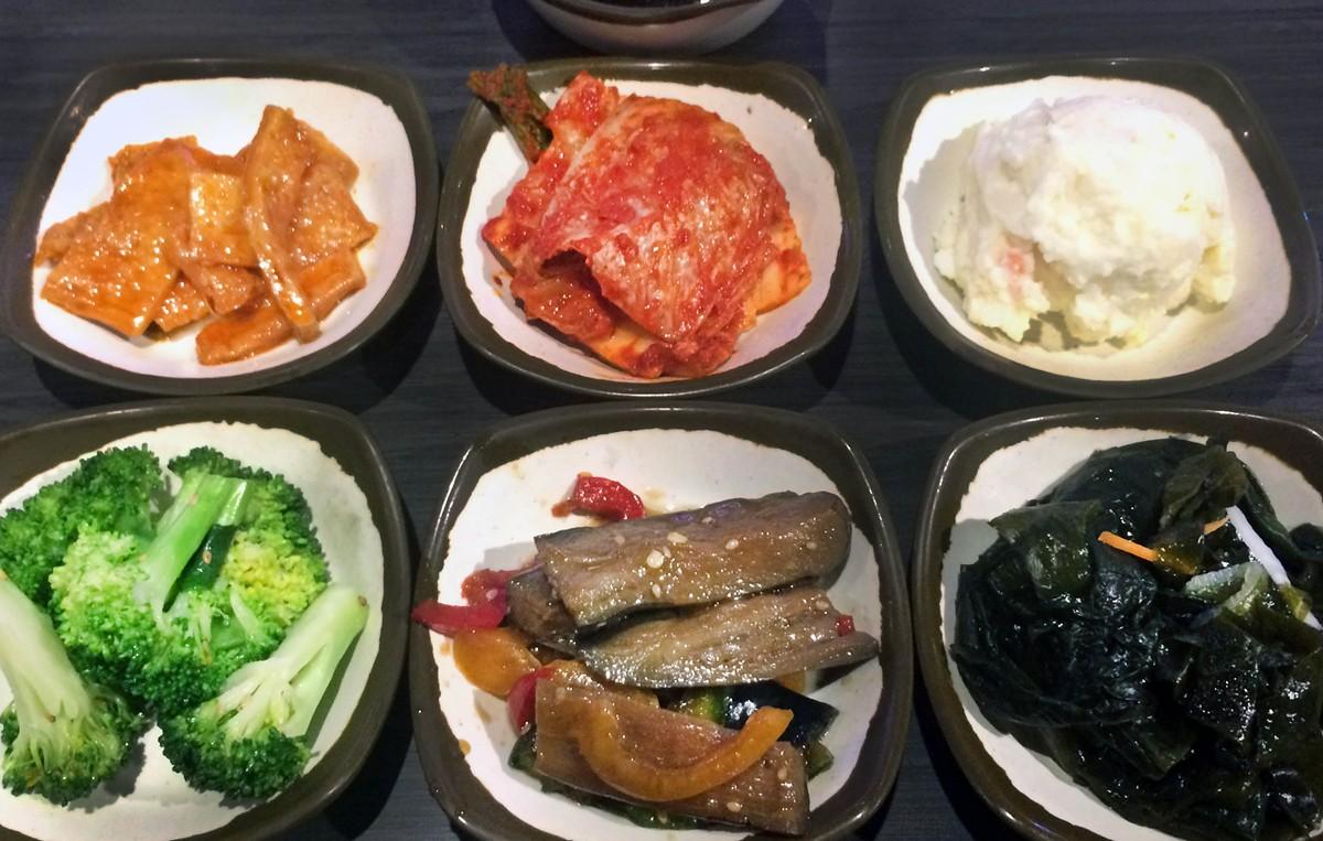 Banchan, or small plates, from Dae Jang Keum.