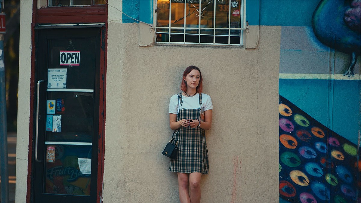 Saoirse Ronan plays Christine McPherson in Lady Bird.