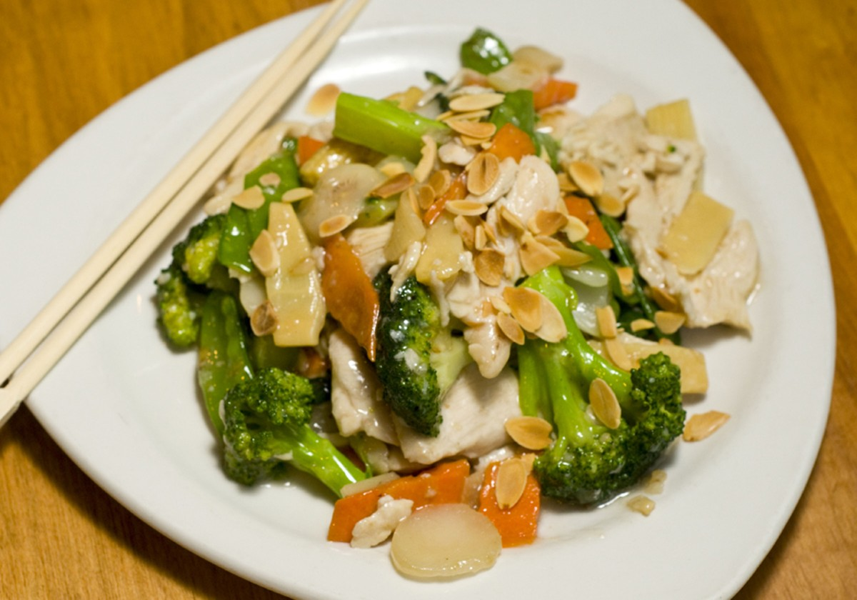 Almond boneless chicken from Shangri-La.
