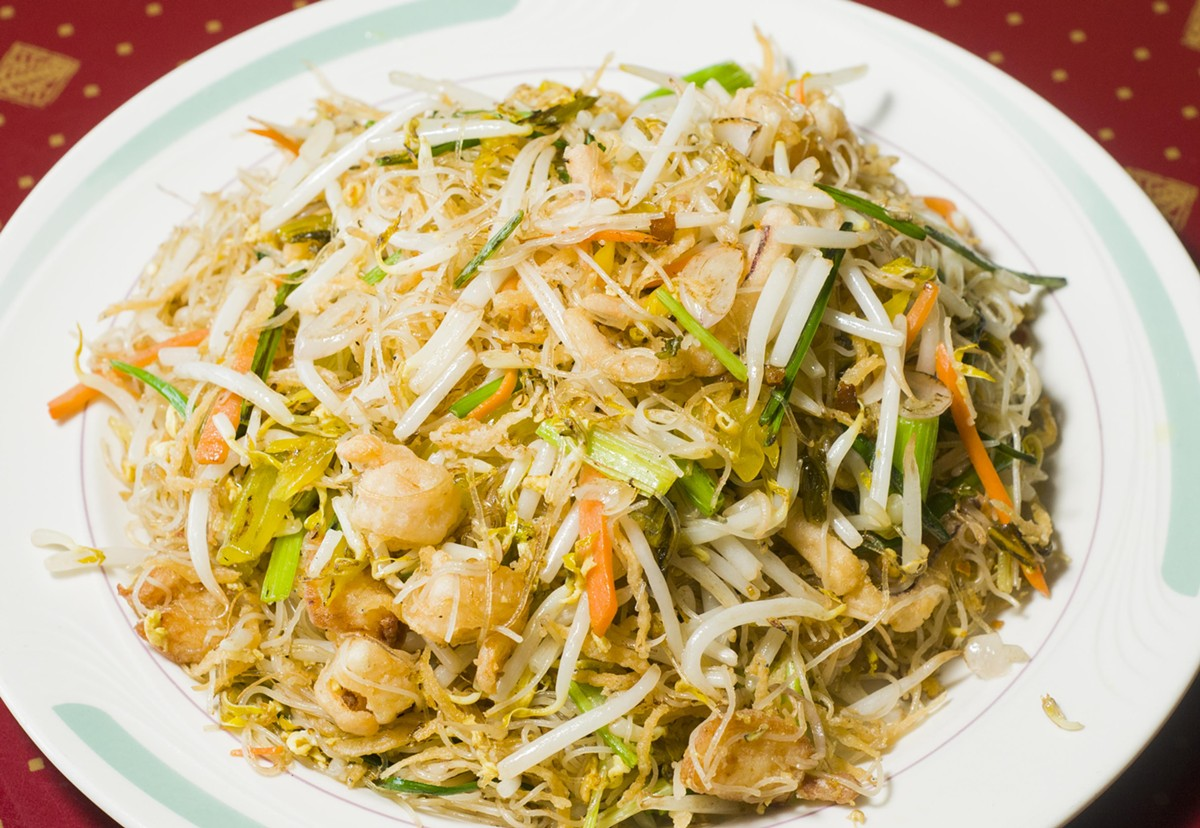 Dapeng stir fried rice noodle.