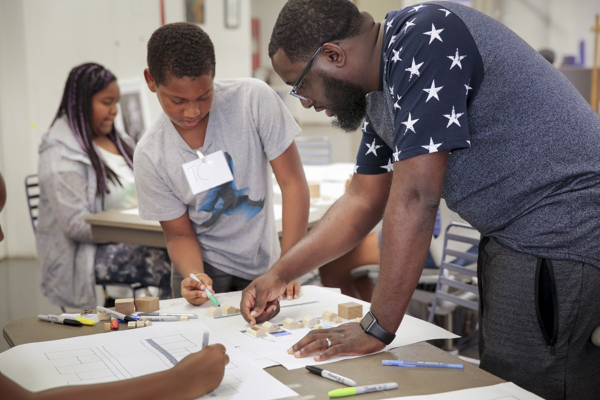 Architect Michael Ford, right, heads up Hip Hop Architecture Camp.