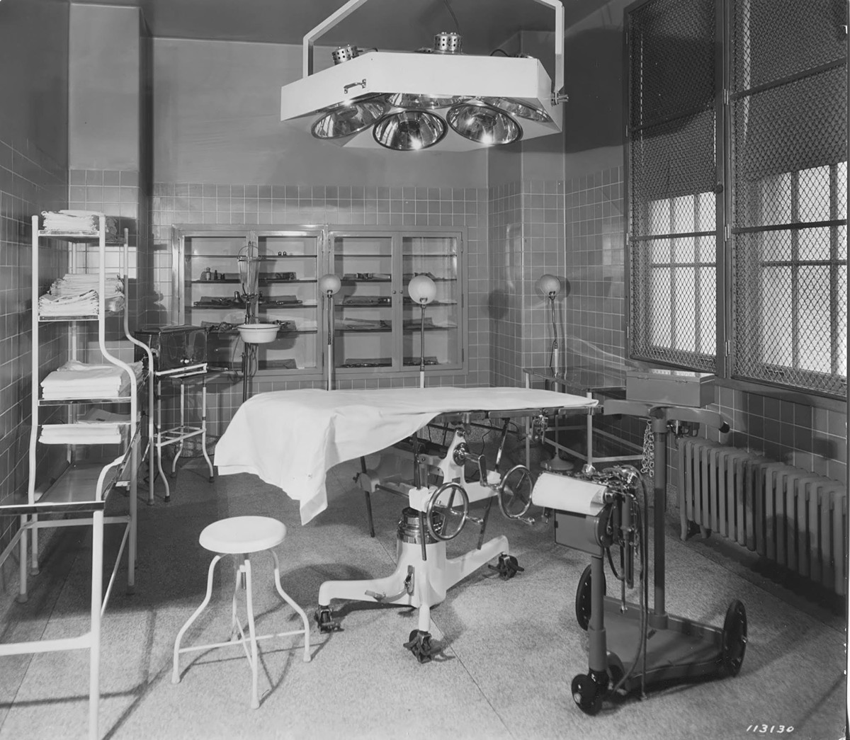 A state of the art operating room at Eloise when it was built in 1925.