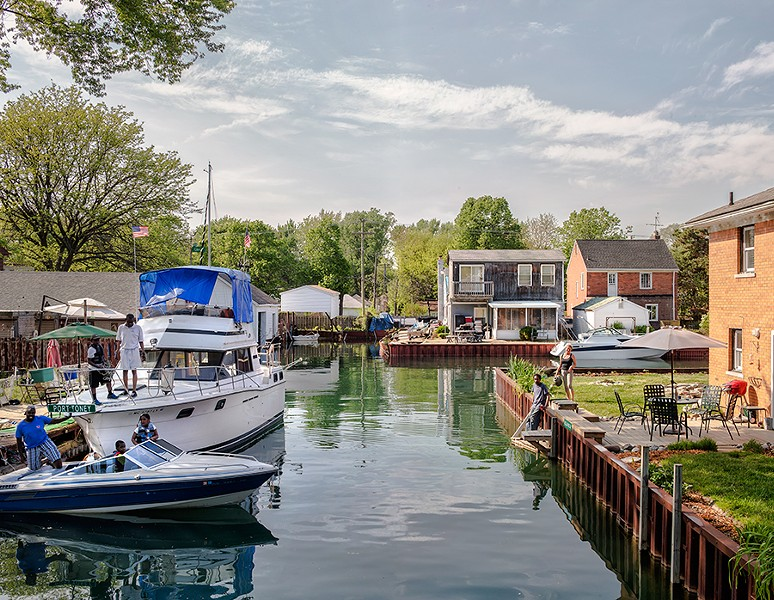 Like a midwestern Venice, canals line Detroit's Harbor and Kent Island communities. - JUSTIN MACONOCHIE