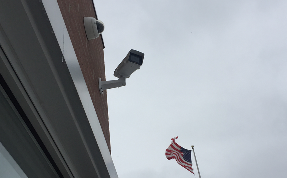 Project Green Light camera at a McDonald's on Eight Mile in Detroit. More than 230 businesses have invested thousands of dollars in the real-time surveillance program by Detroit police. - VIOLET IKONOMOVA