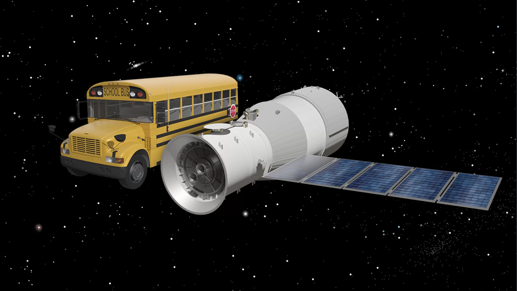 THIS FUCKING THING IS THE SIZE OF A SCHOOL BUS, CREDIT: THE AEROSPACE CORPORATION/CORDS