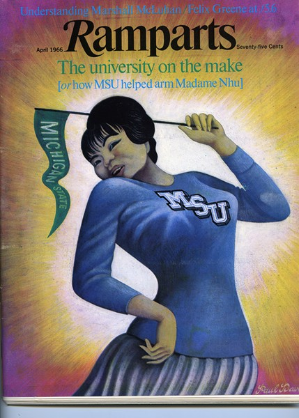 The April 1966 cover of Ramparts. - MSU ARCHIVES & HISTORICAL COLLECTIONS