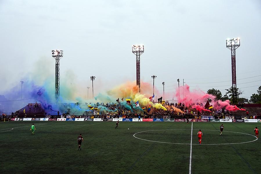 Detroit City FC at Keyworth Stadium. - JON DEBOER/DCFC