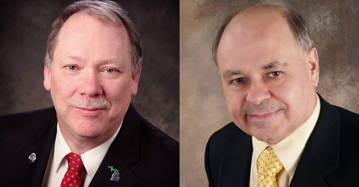 John Tatar, right, joins Bill Gelineau in the race for Michigan's first Libertarian gubernatorial primary. - COURTESY PHOTOS