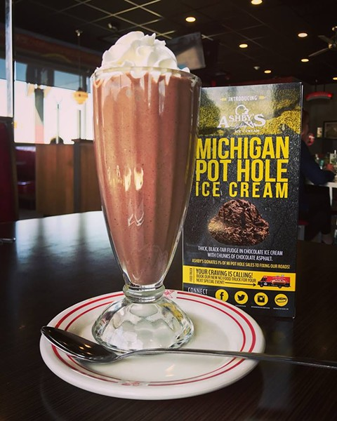 Michigan Pot Hole from Ashby's Sterling Ice Cream. - NATIONAL CONEY ISLAND FACEBOOK.