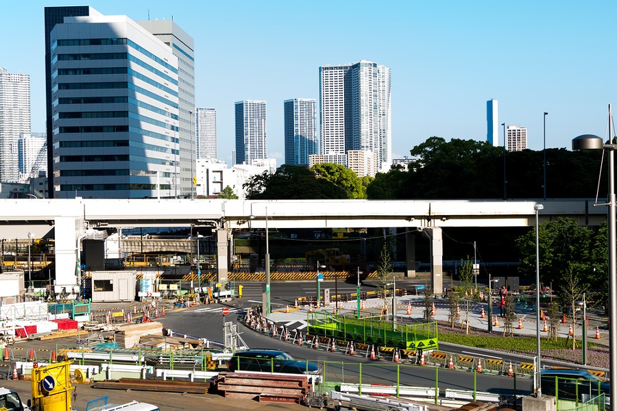 The Shiodome district in Tokyo. - SHUTTERSTOCK