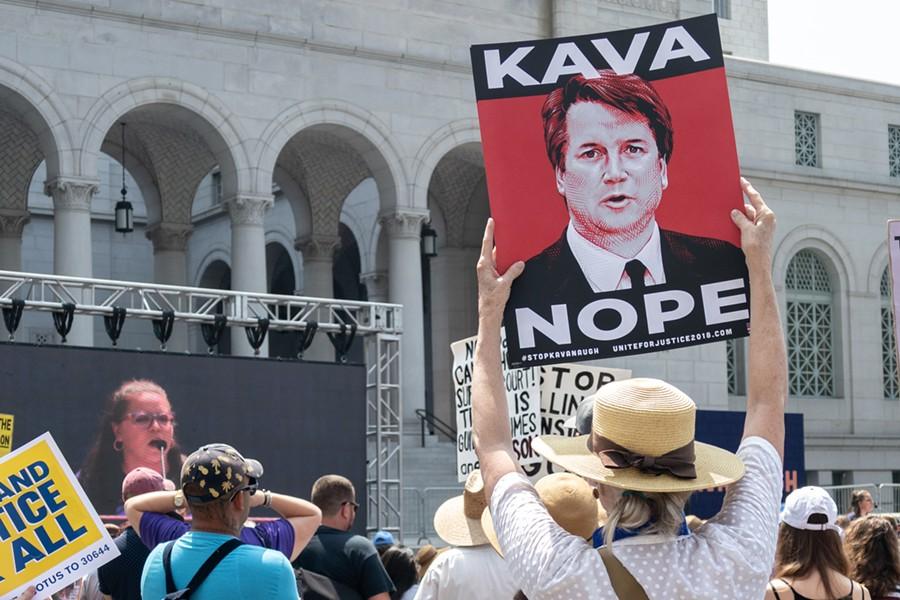Protesters gather in LA following Donald Trump's nomination of Brett Kavanaugh to the Supreme Court,. - SHUTTERSTOCK