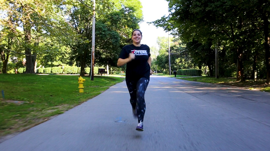 Katie Fahey easily jogs through three State House districts on one street in Grand Rapids. - COURTESY PHOTO