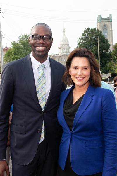 Whitmer with running mate Garlin Gilchrist II. - COURTESY PHOTO