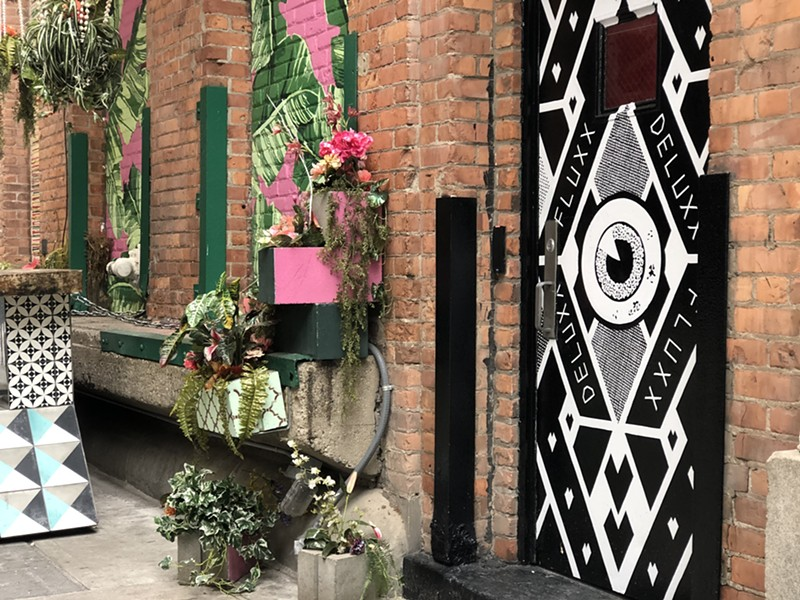 A view of the Deluxx Fluxx entrance in Detroit's most popular alley, The Belt. - DEVIN CULHAM