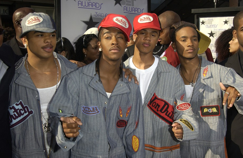 So much promise, and so much Von Dutch. B2K's appearance at the 3rd annual BET awards in 2003. - FEATURE FLASH PHOTOGRAPHY/SHUTTERSTOCK