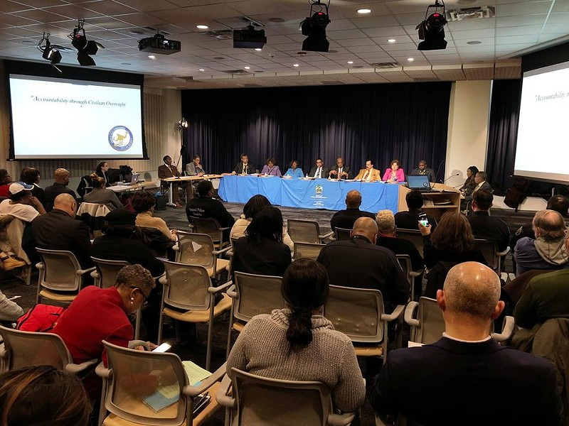 Detroit Board of Police Commissioners meeting. - STEVE NEAVLING