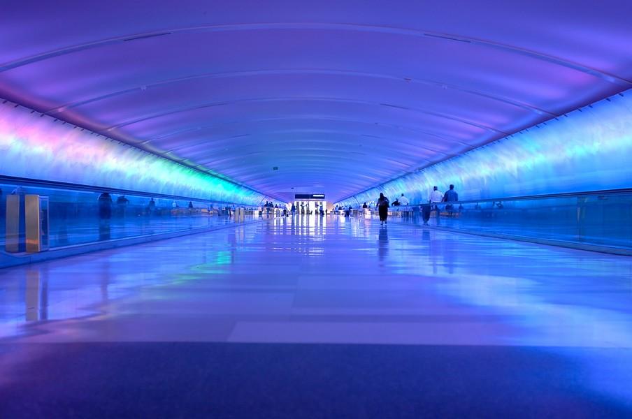 The light tunnel at Detroit Metropolitan Airport - CAROLINA K. SMITH/SHUTTERSTOCK