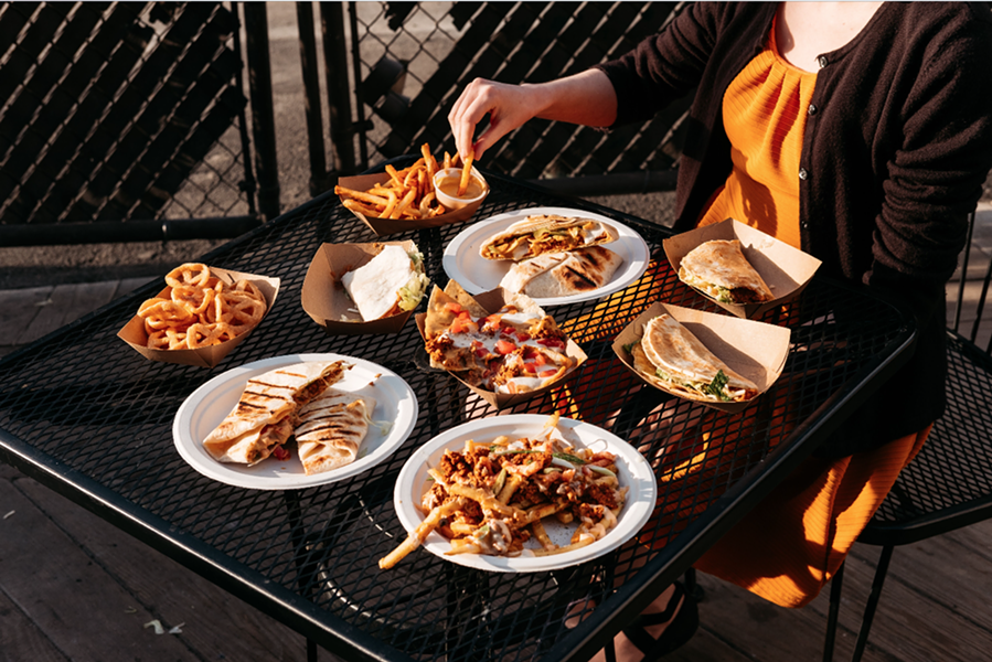 Street Beet's Vegan Taco Hell offerings. - CHRIS GERARD
