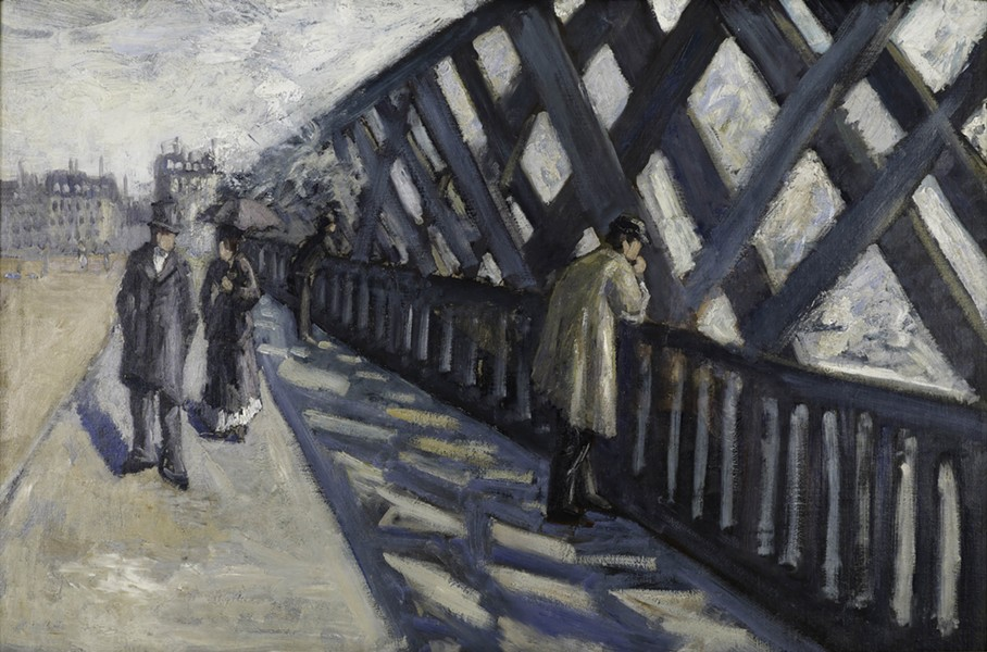 "Study for ""Le Pont de l'Europe,"" 1876, Gustave Caillebotte, French; oil on canvas. - COURTESY OF ALBRIGHT-KNOX ART GALLERY, BEQUEST OF A. CONGER GOODYEAR, BY EXCHANGE, 1974:25."