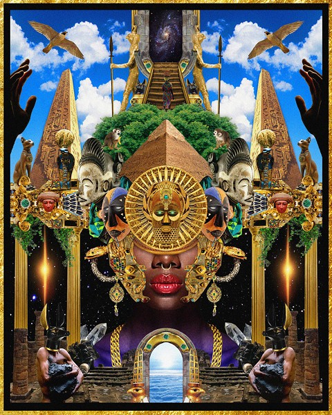 "Manzel Bowman, ""Deities Day & Night II."" - COURTESY OF LIBRARY STREET COLLECTIVE"