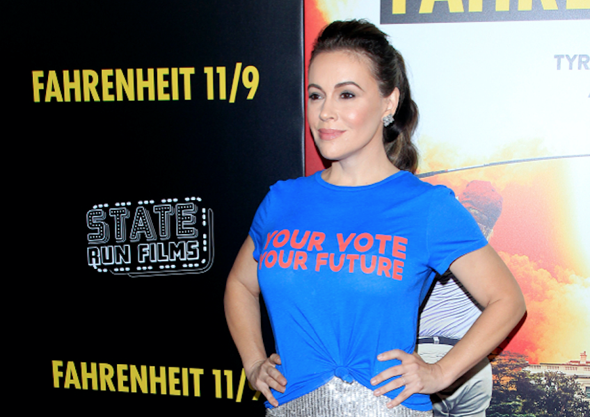 Alyssa Milano at the 'Fahrenheit 11/9' Los Angeles Premiere at the Samuel Goldwyn Theater at AMPAS on Sept. 19, 2018, in Beverly Hills, Calif. - KATHY HUTCHINS / SHUTTERSTOCK