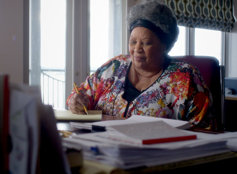 Toni Morrison at work. - TIMOTHY GREENFIELD-SANDERS/MAGNOLIA PICTURES