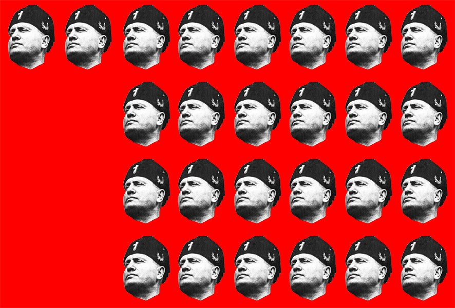 "According to Georgetown University's John McNeill, Trump accumulated 26 out of 44 possible ""Benitos"" for his fascist tendencies — before even taking office. - PUBLIC DOMAIN"